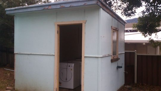 Outdoor Asbestos Toilet